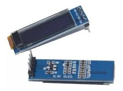 Display Oled 128x32 0.91 Spi Gráfico Arduíno Azul