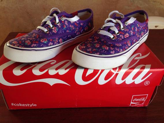 Tenis Coca Cola Original Tamanho 34 Kick Garden Canvas Violeta
