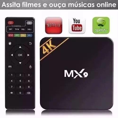 Smart Tv Box Mx9 4k Ultra Hd 4k2k Wi-fi Android Hdmi Usb