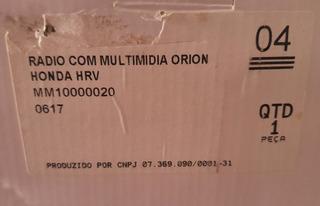 Central Multimidia Honda Hrv Orion M1