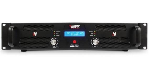 Amplificador Novik Nk2500 - 2500w Rms, 4 Ohms, Bivolt