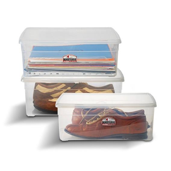 Caja Organizador Plastico Apilable Con Tapa Taper 10 Litros Colombraro