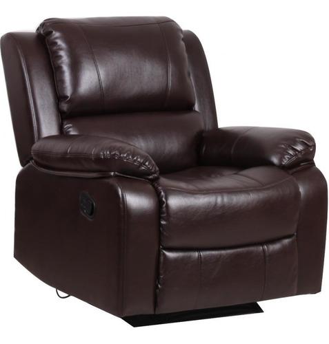 Sofa Reclinable De Cuero Alto Confort Silla Elegante