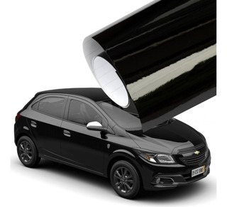 Vinilo Negro Brillante 200x120cm Para Autos