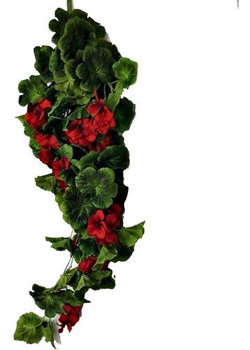 Flor Pendente De Gerânio Parede Vertical