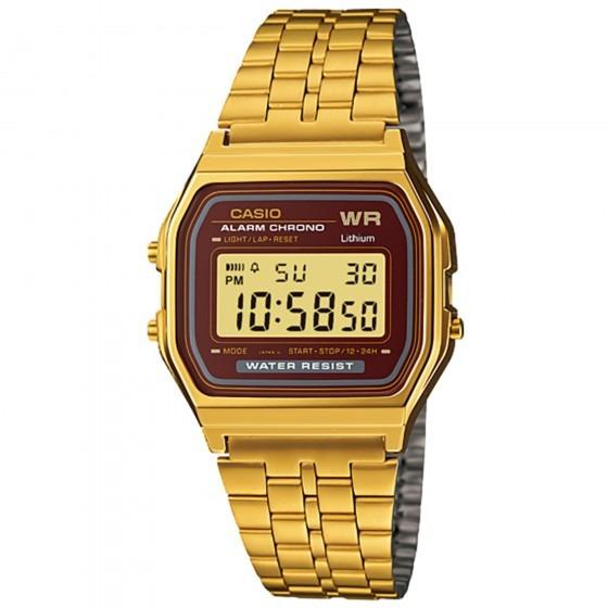 Relógio Casio A159wgea-5df Vintage Masc Dourado- Refinado