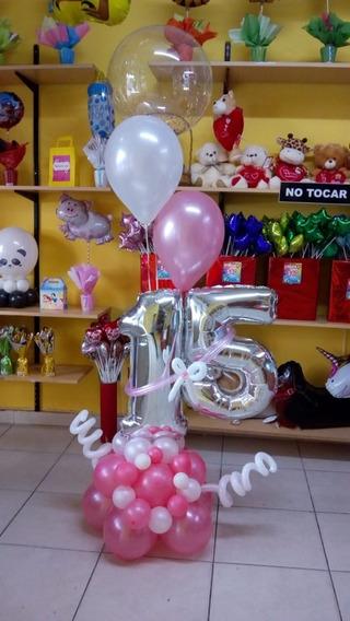 Arreglo O Bouquet De Globos Forma De Numero Mas Globos Helio