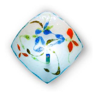 Lámpara Techo Cristal Burbuja Flores De Colores