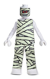 Lego Mummy Prestige Costume White Medium 78