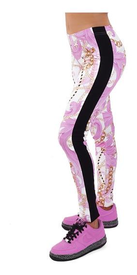Calza Mujer Full Sublimada Rosa, Billionz 4150