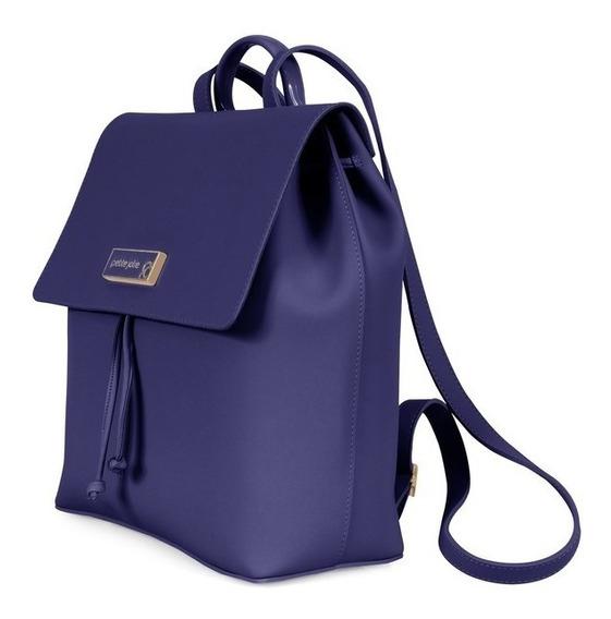 Bolsa Mochila Petite Jolie Ruber Bag Preta Ou Azul