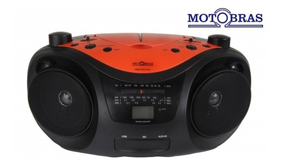 Cd Player Boombox Com Am/fm E 2 Faixas - Motobras