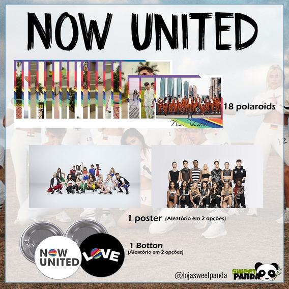 Kit Now United Com Poster + Botton + Polaroids