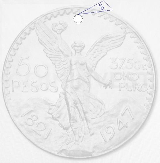 Replica De Moneda 50 Pesos Mexicana.