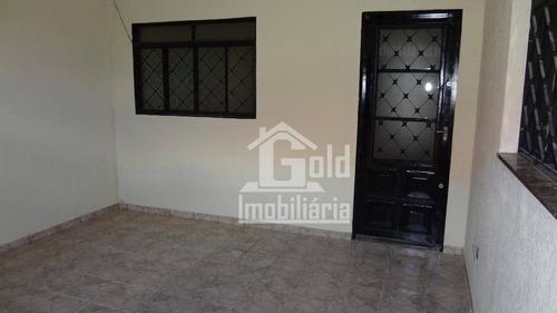 Casa Com 2 Dormitórios Para Alugar, 80 M² Por R$ 1.100/mês - Santa Cruz Do José Jacques - Ribeirão Preto/sp - Ca1215