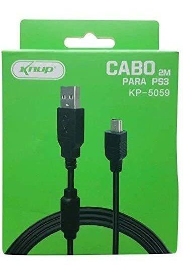 Cabo Carregador Controle Vídeo Game Ps3 - 2 Metros