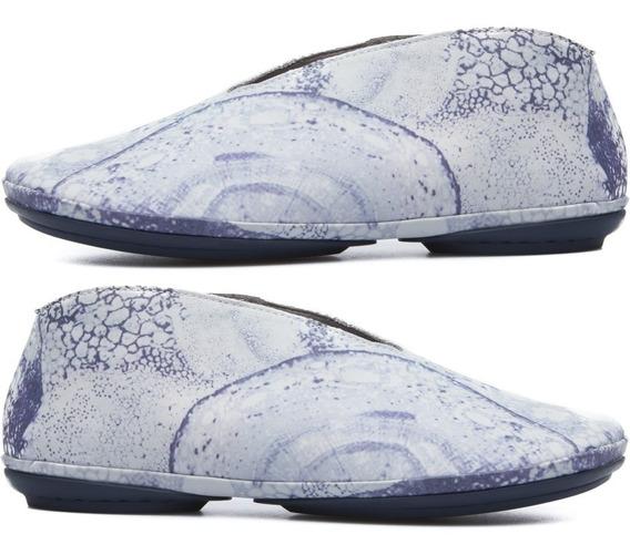 R Zapatos Dama Mujer Camper Girl 3mx Twins Azul Piel Oferta