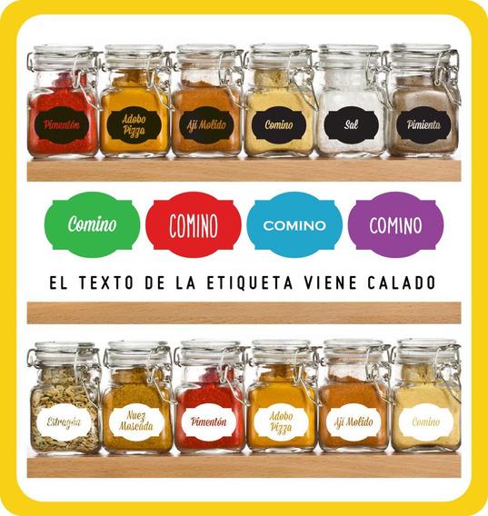 Vinilos/stickers Para Frascos Especieros X10u
