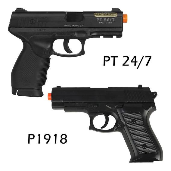 Airsoft Taurus Pt24/7 Spring Cybergun + Pistola P1918 Barato