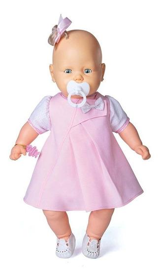 Boneca Bebezinho Vestido Rosa Claro Estrela 49 Cm Bonellihq