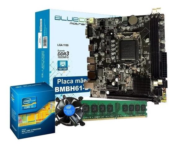 Kit Upgrade Core I3 + Placa Mãe Lga1155 + 2gb Ddr3 Novo