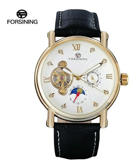 Relógio Forsining Semi Automatico Dourado