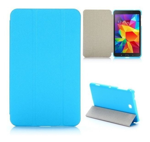 Book Cover Samsung Galaxy Tab 4, 8.0 . T330, T331 Azul Claro