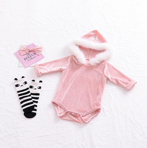 Roupa Bebê Body Veludo Menina Festa Páscoa Top Importado