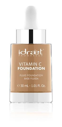 Base Fluida Idraet Vitamina C 30ml Mas Brocha De Regalo Maqu