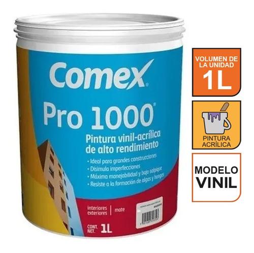 Imagen 1 de 3 de Pintura Vinil-acrílica Blanca Comex Pro 1000 Plus 1 Litro