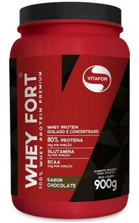 Whey Fort 900g Vitafor - Whey Protein Premium - Chocolate