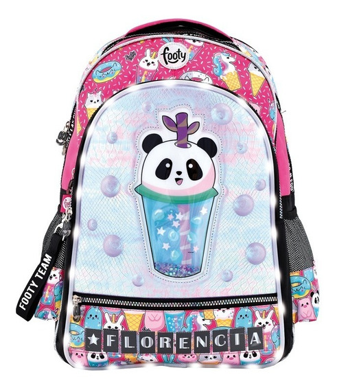 Mochila Panda 3d Con Luz Led Personalizada 18