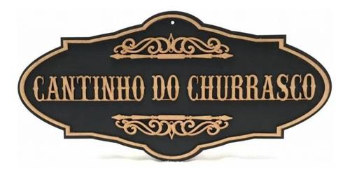 Imagem 1 de 2 de Quadro Decorativo De Churrasco Em Alto Relevo - Promoção