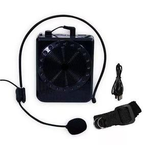 Microfone Amplificador De Voz E Caixa De Som Com Usb Novo