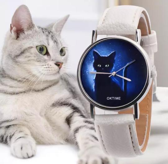 Relógio De Gato! Frete Grátis! 12x S/ Juros!