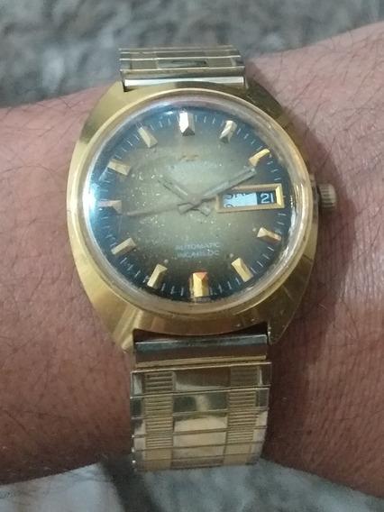 Relógio Automático Technos Antigo Caixa Seiko Pulseira Linda