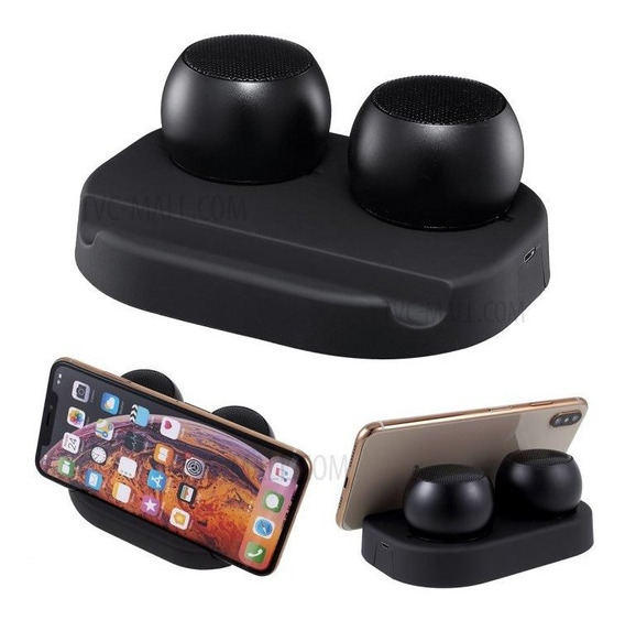 Mini 2 Caixinha Speaker Gêmeas Via Bluetooth - Kingleen