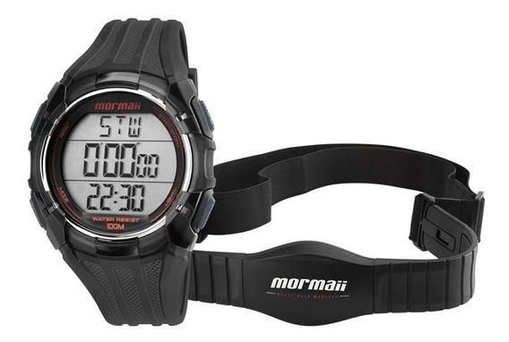 Relógio Mormaii Masculino Ref: Mo11558a/8r Monitor Cardíaco