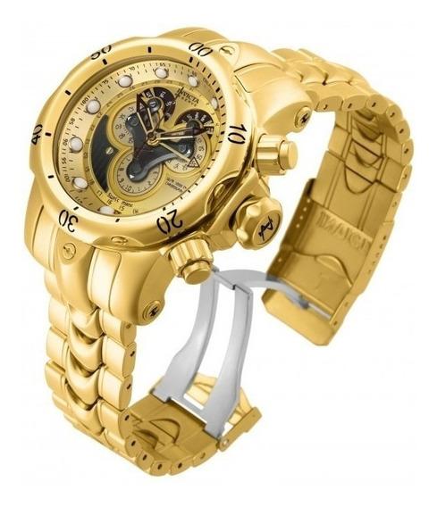 Relógio Invicta 14462 Dourado Ouro 18k Aço - Reserve Híbr