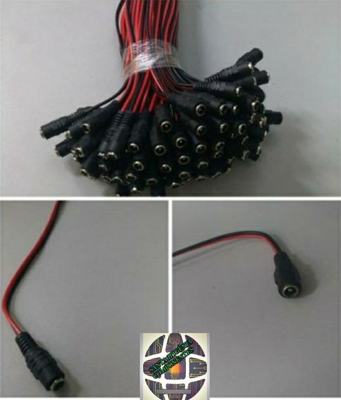 Kit 200 Rabicho Conector P4 Fêmea P/ Fitas Leds Cameras Cftv