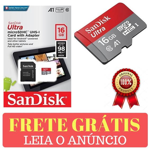 Cartão Sandisk De Memória 16gb Ultra Sdhc 98mb/s Original