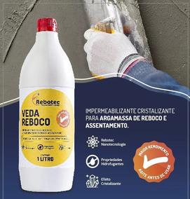 Impermeabilizante Veda Reboco Liquido Rebotec Embala Litro