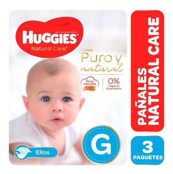 Pañales Huggies Natural Care Puro Y Natural Ellos Pack X 3
