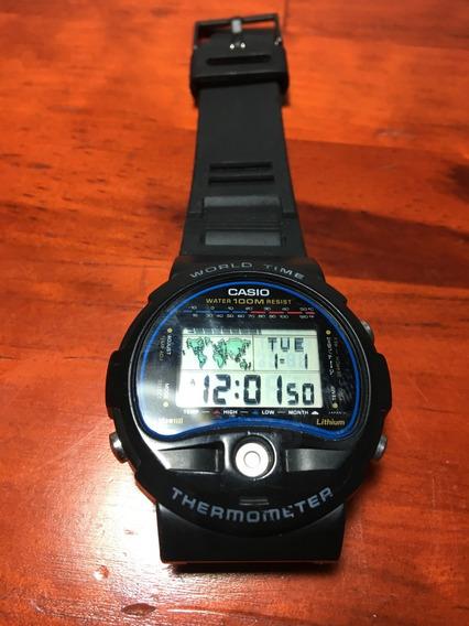 Reloj Casio Vintage Termometro Horario Mundial