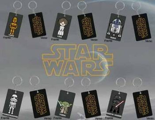 Kit De Chaveiros Star Wars Personagens - 6 Chaveiros