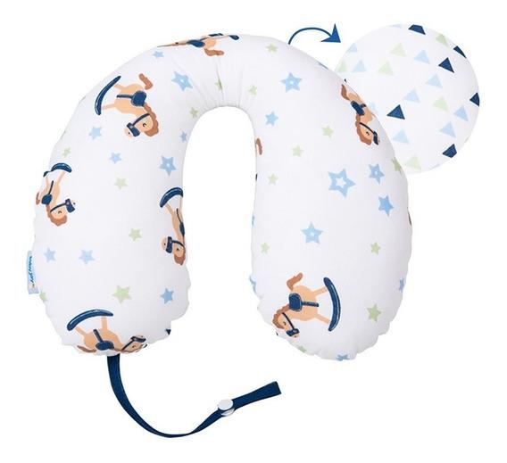 Apoio Pescoço Travesseiro Bebê Com Prendedor Chupeta Menino