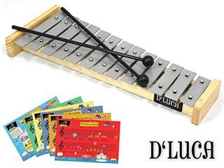 Dluca 13 Notas Niños Glockenspiels Xilófono Con Tarjetas De