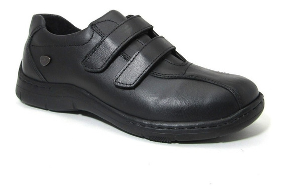 Zapato Cavatini Doble Abrojo Flor Colegial Niños