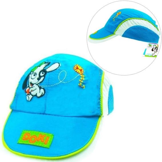 Boné Infantil Doki Discovery Kids Azul Butterfly Oferta