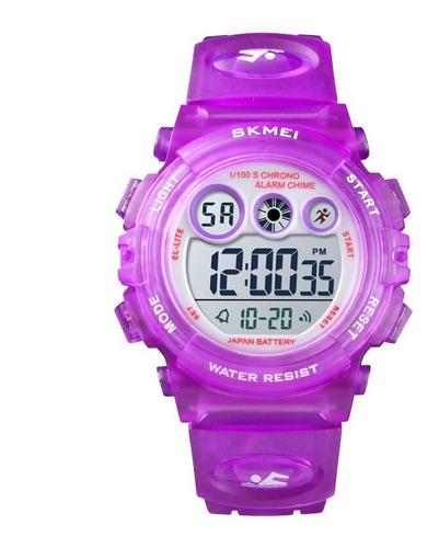 Imagem 1 de 2 de Relógio Infantil Skmei Digital Esportivo Roxo